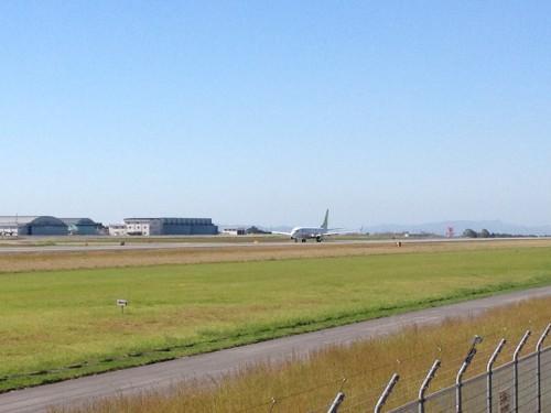 熊本空港飛行機見物1