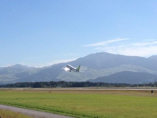 熊本空港飛行機見物3