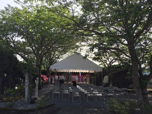 西住公園 慰霊祭