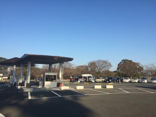 2016-1熊本城 二の丸駐車場